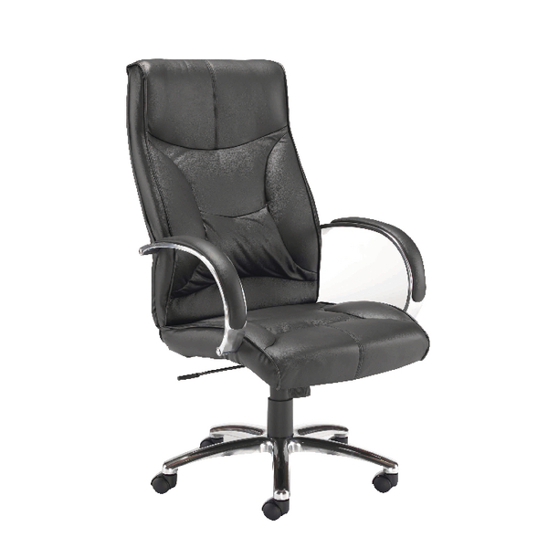 Arista High Back Leather Executive Chair Black KF78701