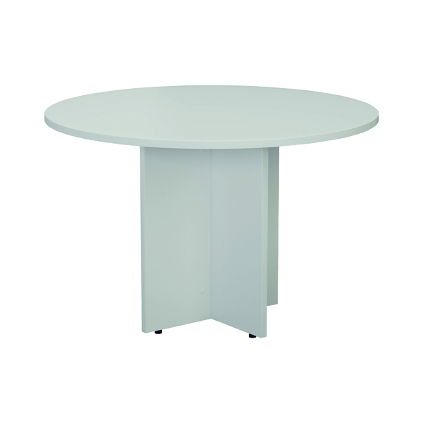 Jemini White Round D1200 Meeting Table KF78958