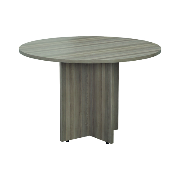Jemini Grey Oak Round D1200 Meeting Table KF78959