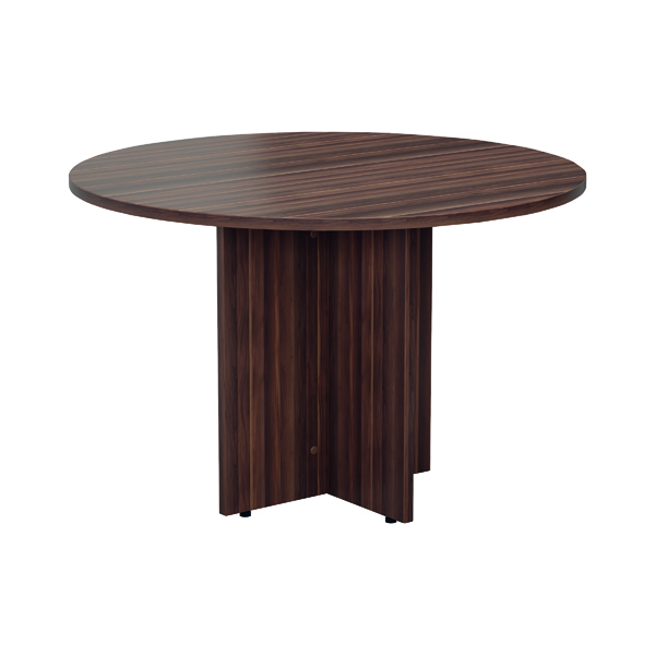 Jemini Walnut Round D1200 Meeting Table KF78960
