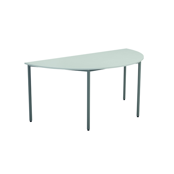 Jemini White Semi Circular Table W1600mm KF79033