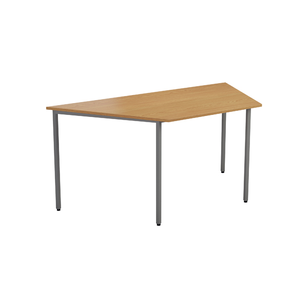 Jemini Oak 1600mm Trapezoidal Table KF79035