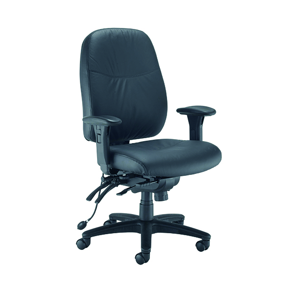 Avior Snowden Heavy Duty Chair Black PU KF79229