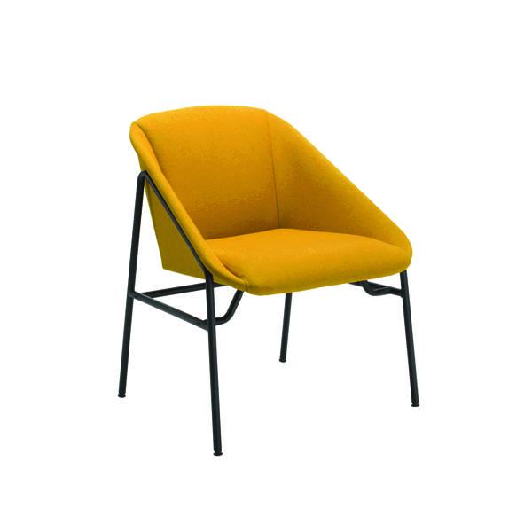 Jemini Mustard Bistro Reception Armchair KF79231