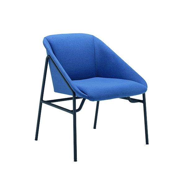 Jemini Navy Bistro Reception Armchair KF79232
