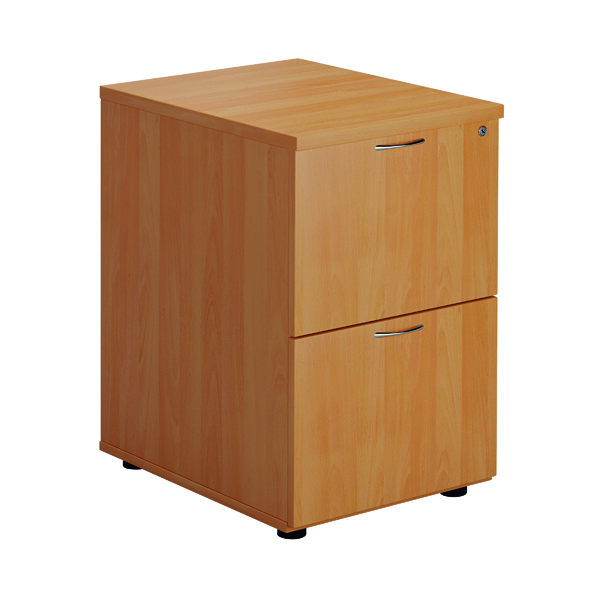 FF Jemini Beech 2 Drawer Filing Cabinet Version 2 TES2FCBE2