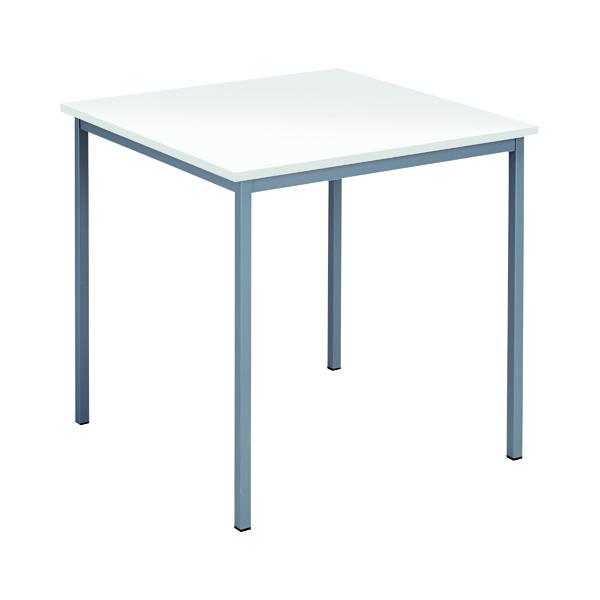 Serrion Square Table 750mm White ESQUT750WH