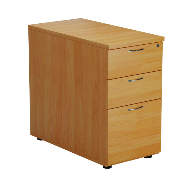 First Desk High 3 Drawer Pedestal 800mm Deep Beech TESDHP3/800BE2FR