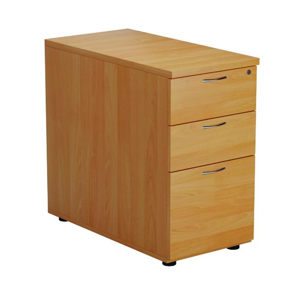 First Desk High 3 Drawer Pedestal 800mm Deep Beech KF79930