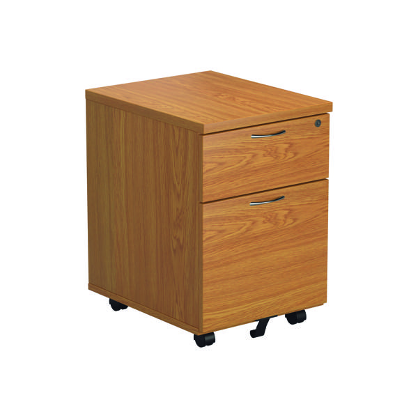 First 2 Drawer Mobile Pedestal Nova Oak TESMP2NO