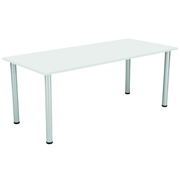 Serrion Rectangular Meeting Table White KF800210