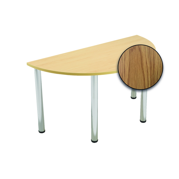 Serrion Semi-Circular Meeting Table Oak KF800226
