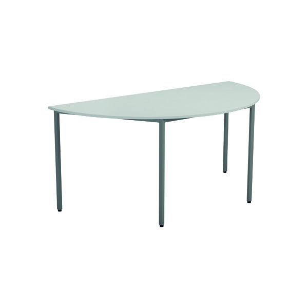 Serrion Semi-Circular Meeting Table White KF800239