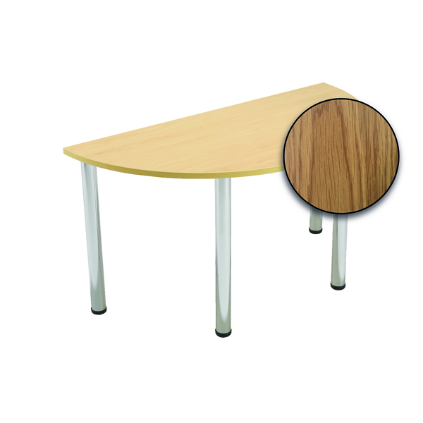 Serrion Semi-Circular Meeting Table Oak KF800267