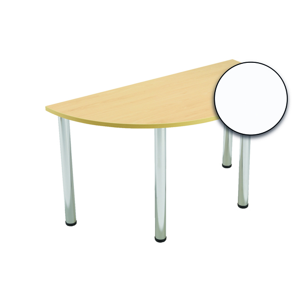 Serrion Semi-Circular Meeting Table White KF800273