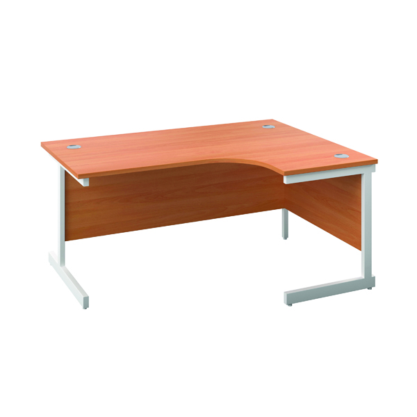 First Right Hand Radial Cantilever Desk 1600x1200mm Beech/White KF803102