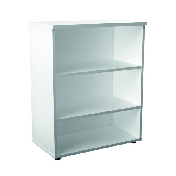 First 1000mm 1 Shelf Wooden Bookcase 450mm Depth White KF803638