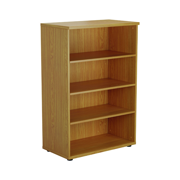 First 1200mm 3 Shelf Wooden Bookcase 450mm Depth Nova Oak KF803669