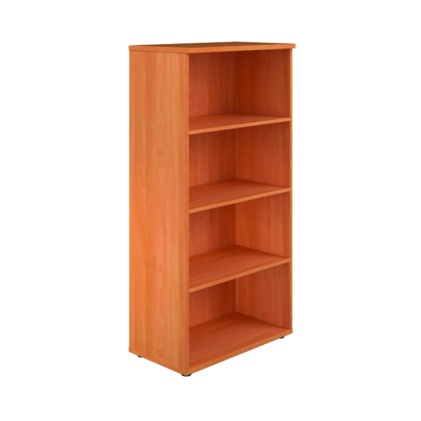 First 1600mm 4 Shelf Wooden Bookcase 450mm Depth Beech KF803683