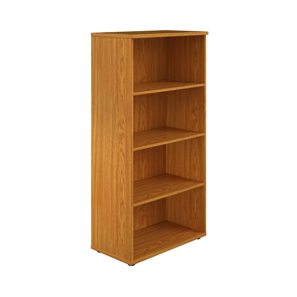 First 1600mm 4 Shelf Wooden Bookcase 450mm Depth Nova Oak KF803690