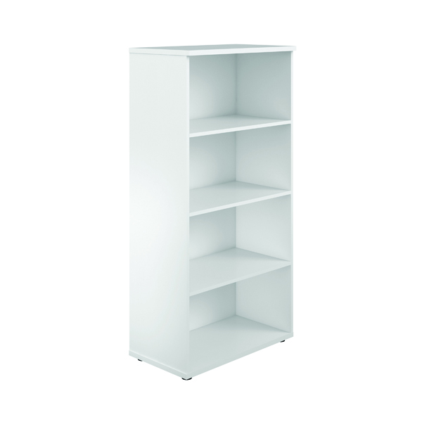 First 1600mm 4 Shelf Wooden Bookcase 450mm Depth White KF803706