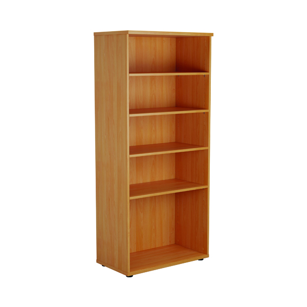 First 1800mm 4 Shelf Wooden Bookcase 450mm Depth Beech KF803713
