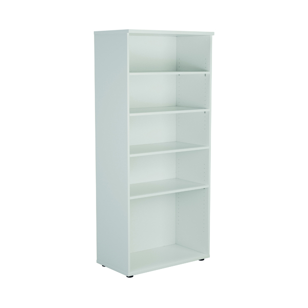 First 1800mm 4 Shelf Wooden Bookcase 450mm Depth White KF803737