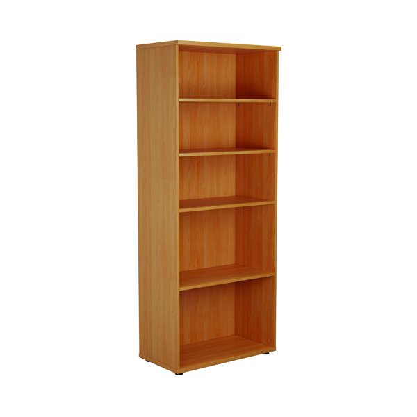 First 2000mm 4 Shelf Wooden Bookcase 450mm Depth Beech KF803744
