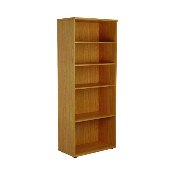 First 2000mm 4 Shelf Wooden Bookcase 450mm Depth Nova Oak KF803751