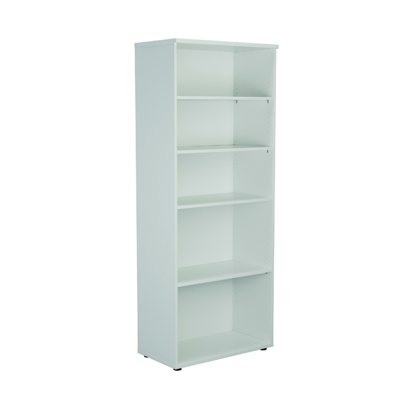 First 2000mm 4 Shelf Wooden Bookcase 450mm Depth White KF803768
