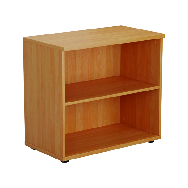 First 700mm 1 Shelf Wooden Bookcase 450mm Depth Beech KF803775
