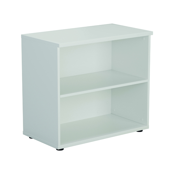 First 700mm 1 Shelf Wooden Bookcase 450mm Depth White KF803799
