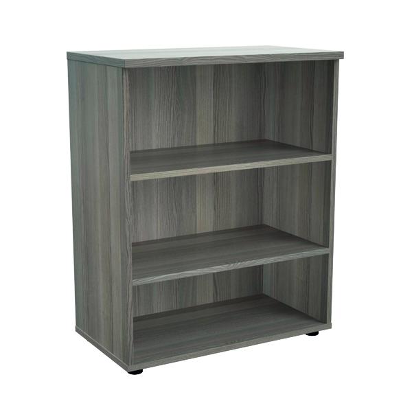 Jemini 1000mm 1 Shelf Wooden Bookcase 450mm Depth Grey Oak KF810179