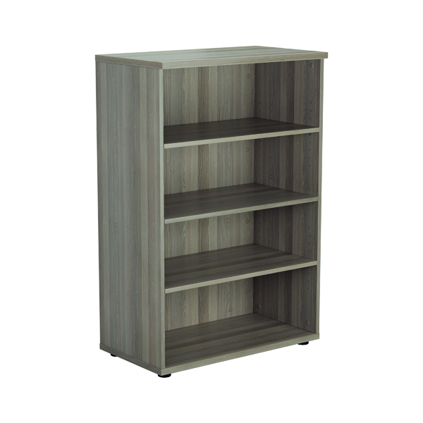 Jemini 1200mm 3 Shelf Wooden Bookcase 450mm Depth Grey Oak KF810346