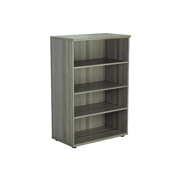Jemini 1200mm 3 Shelf Wooden Bookcase 450mm Depth Grey Oak KF810346