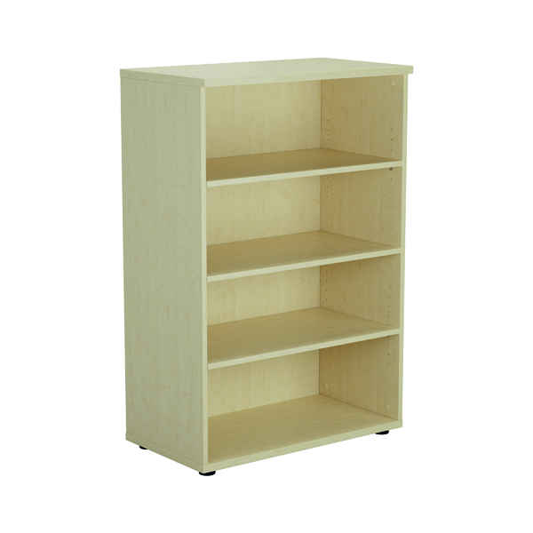 Jemini 1200mm 3 Shelf Wooden Bookcase 450mm Depth Maple KF810353