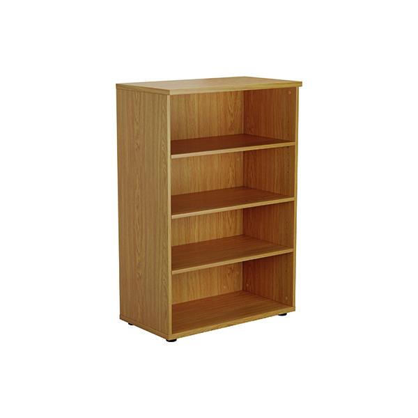 Jemini 1200mm 3 Shelf Wooden Bookcase 450mm Depth Nova Oak KF810360