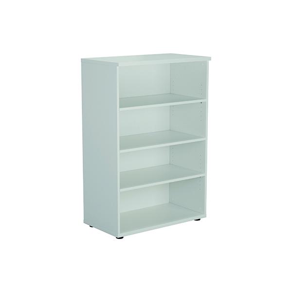 Jemini 1200mm 3 Shelf Wooden Bookcase 450mm Depth White KF810377