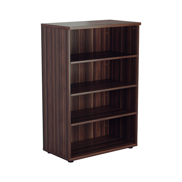 Jemini 1600mm 4 Shelf Wooden Bookcase 450mm Depth Dark Walnut KF810506