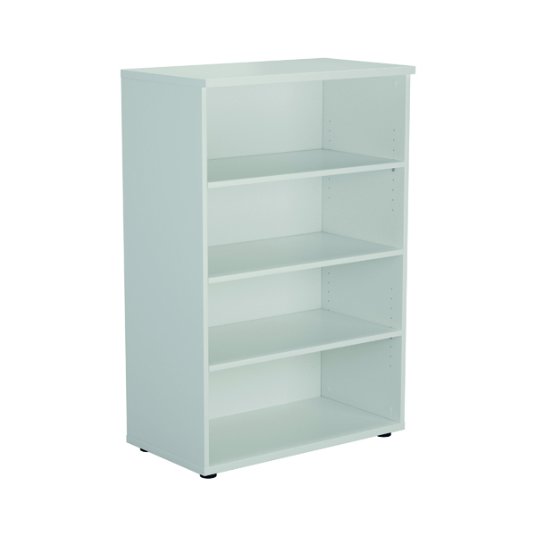 Jemini 1600mm 4 Shelf Wooden Bookcase 450mm Depth White KF810544