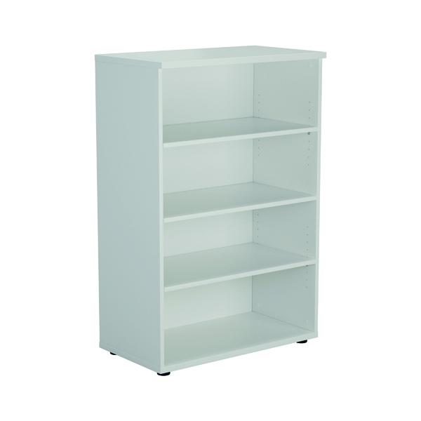 Jemini 1600mm 4 Shelf Wooden Bookcase 450mm Depth White KF810544