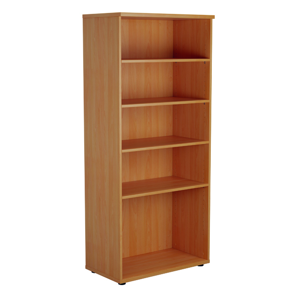 Jemini 1800mm 4 Shelf Wooden Bookcase 450mm Depth Beech KF810551