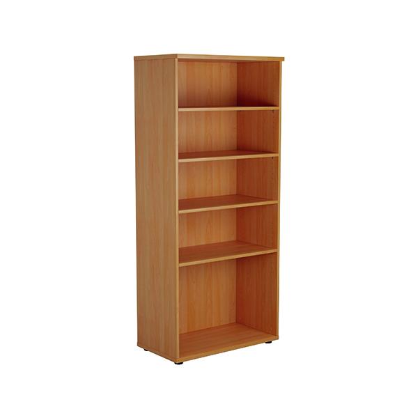 Jemini 1800mm 4 Shelf Wooden Bookcase 450mm Depth Beech KF810551