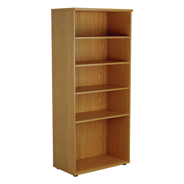 Jemini 1800mm 4 Shelf Wooden Bookcase 450mm Depth Nova Oak KF811015
