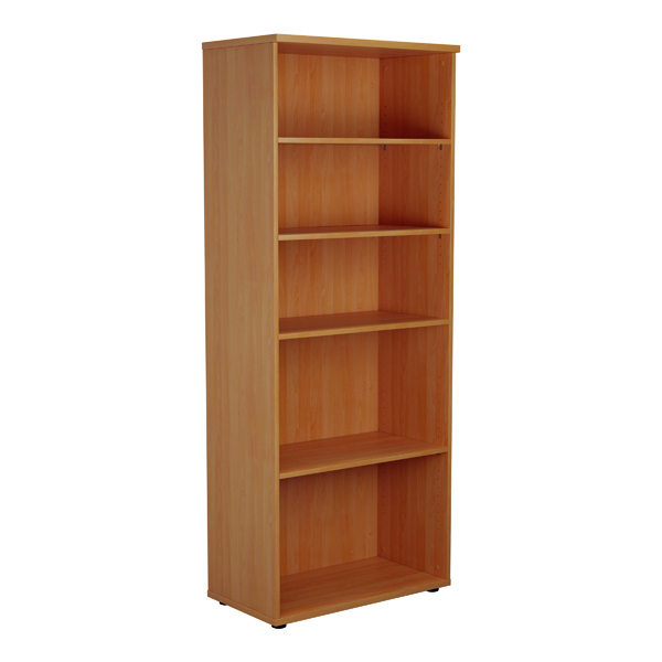 Jemini 2000mm 4 Shelf Wooden Bookcase 450mm Depth Beech KF811039