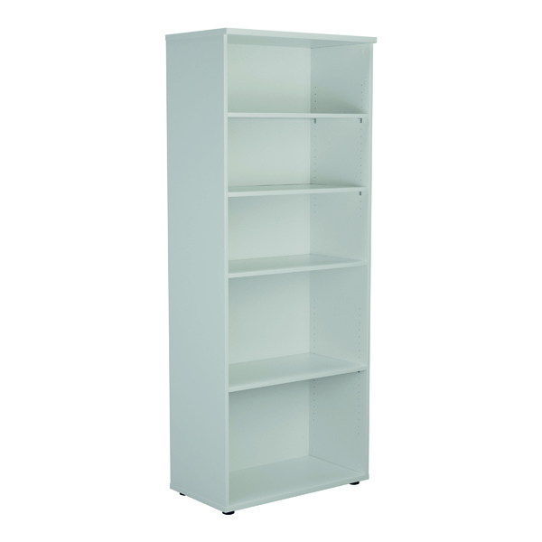 Jemini 2000mm 4 Shelf Wooden Bookcase 450mm Depth White KF811190