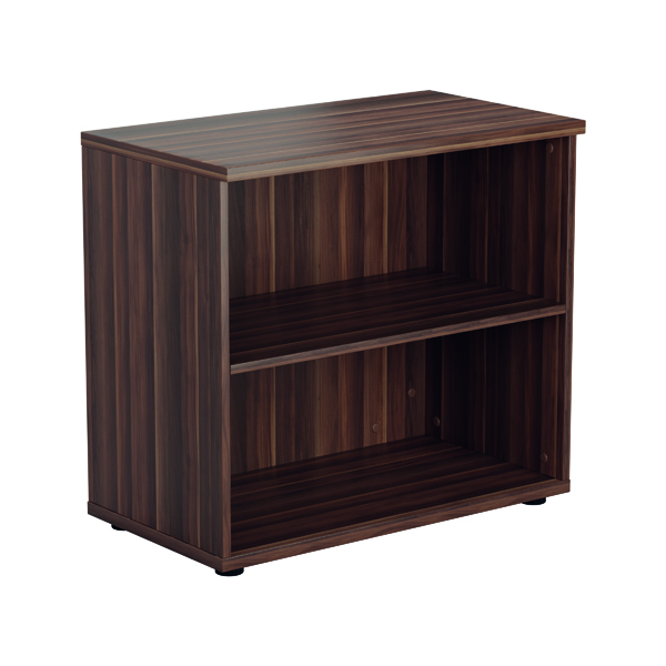 Jemini 700mm 1 Shelf Wooden Bookcase 450mm Depth Dark Walnut KF811329