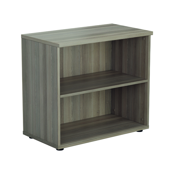 Jemini 700mm 1 Shelf Wooden Bookcase 450mm Depth Grey Oak KF811336