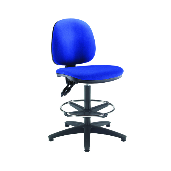 Arista Draughtsman Chair Adjustable Footrest Blue KF815147