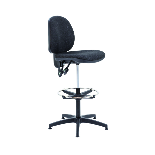 Arista Draughtsman Chair Adjustable Footrest Charcoal KF815148